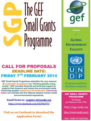 UNGP GEF Call for Proposals Trinidad Tobago