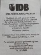 IDB Grant for NGO Trinidad Tobago