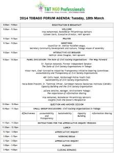 Agenda 2014 Tobago NGO Forum