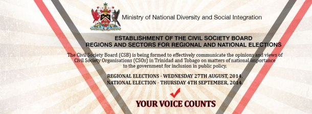 Civil Society Board Trinidad Tobago Notice