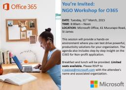 2015 NGO Workshop Microsoft Trinidad Tobago