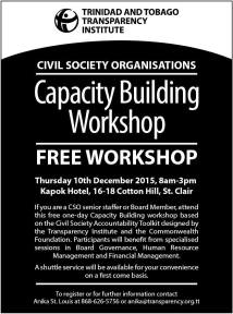 TT Transparency Institute - Civil Society Workshop